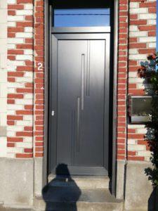 porte entree facade mons hainaut pvc noir anthracite