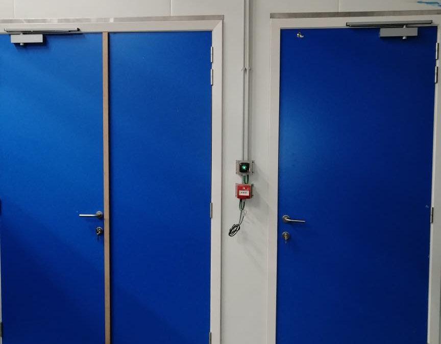 Portes coupe feu usine
